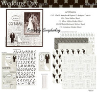 Wedding Day 12X12 Scrapbooking Kit The Paper Studio Bride & Groom Love NEW