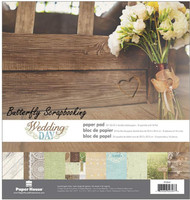 Wedding Day 12x12 Scrapbooking Paper Pack Paper House PP-0049 NEW
