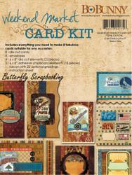 Weekend Market CARD KIT Create 8 Cards Bobunny Scrapbooking Bo Bunny NEW