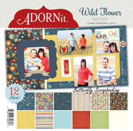 Wild Flower Collection 12X12 Scrapbooking Paper Pack Adornit Carolees New