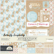 Winter Cozy Collection Kit 12x12 Scrapbooking Paper Crafting Kit Authentique New