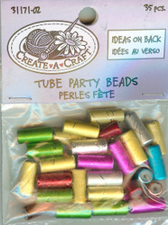 Tube Party Beads, NEW - 31171-02