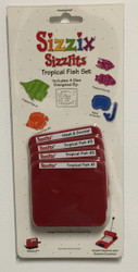 Sizzix Sizzlits, Dies Tropical Fish Set - NEW, 38-9702