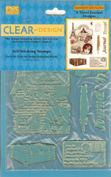 Clear Unmounted Stamps, 8 Travel Journal Designs PSX - NEW, 18200