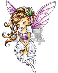 FAIRY Stamp Christy Cling Unmounted Rubber Stamp Little Darlings MPN 2003 New