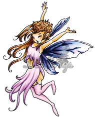 FAIRY Stamp Lucinda Cling Unmounted Rubber Stamp Little Darlings 2001 New