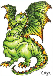 DRAGON Stamp Katya Unmounted Rubber Stamp Little Darlings 3069 New