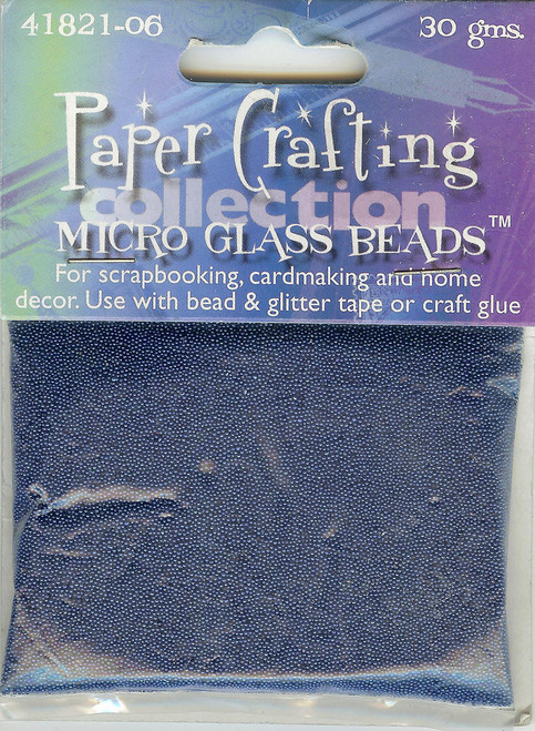 Blue Micro Glass Beads