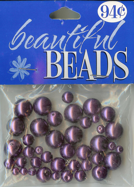 Purple Round Pearl Mix