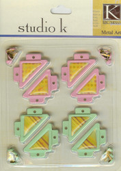 Studio K Pink & Green Photo Corners