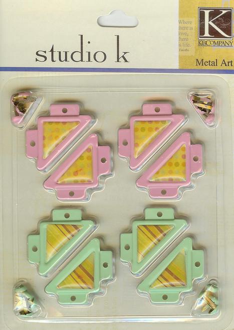 Studio K Pink & Green Photo Corners