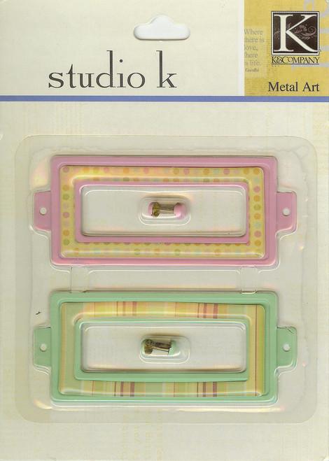 Studio K Pink & Green Journal Tags