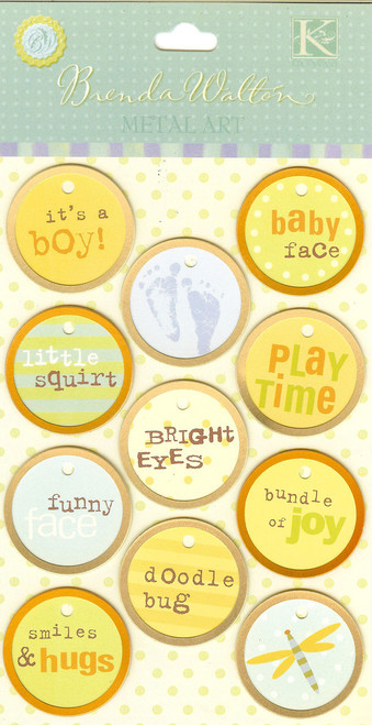 BW Baby Girl Metal Rimmed Tags