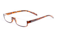 R6143 Classic Lower Half Rim Frame Reading Glasses Tortoise