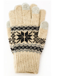 G3207- Winter Snowflake Texting Gloves