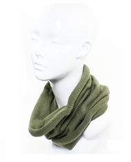 S4249  Slouchy Rolled Cowl Neck Circle Scarf Olive
