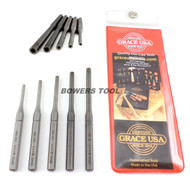 Grace USA 5pc Gunsmith Center Hole Holding Roll Spring Pin Starter Punch Set MADE IN USA