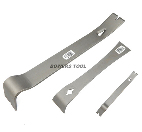 Enderes Tool 3pc Pry Bar Set Construction Tack Nail Staple Puller Made In USA
