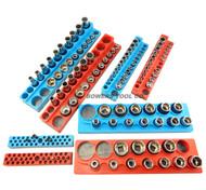 "Magnetic Socket Holder Set 8pc Mechanics Time Saver 1/2"" 3/8"" 1/4"" Drive MTS"