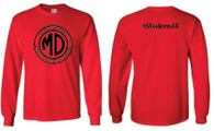 Modern Distribution #ModernAF Long Sleeve T-Shirt Red