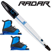 "Radar Graphite Vapor 68"" Slalom with Double Vector Boots"