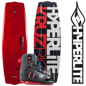 Hyperlite Kruz Bio 139 cm Wakeboard with Team Open Toe Boots 2018