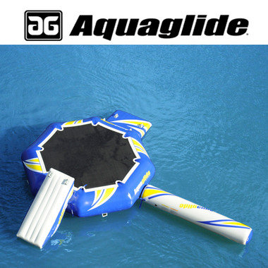 Aquaglide 12' Rebound Aquapark with Swimstep, Slide, & Log at RIDE THE WAVE