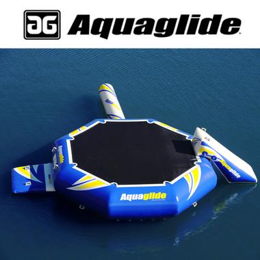 Aquaglide 16' Rebound Aquapark with Swimstep, Slide, & Log