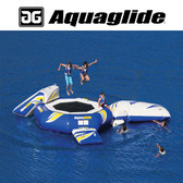 Aquaglide Supertramp 17' Water Trampoline with Swimstep, Blast, & I-Log