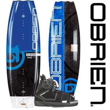 O'Brien System 140 Wakeboard Package With Clutch Bindings