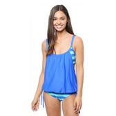 Next Lined Up Double Up Tankini - Blue