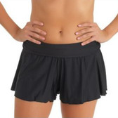 Athena Flirty Short in Solid Black