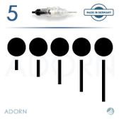 5 Sloped Needle (Strip of 5) - for ET Modul / Onix (+ Compatible Machines)