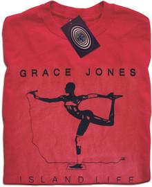 Island Life Grace Jones (Red) T Shirt