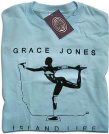 Island Life Grace Jones (Blue) T Shirt