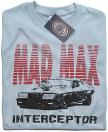 Mad Max V8 Interceptor T Shirt (Light Blue)