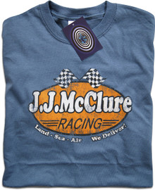 J J McClure (The Cannonball Run) T Shirt (Blue)