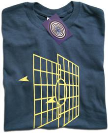 Millenium Falcon Battle Graphics (Blue) T Shirt