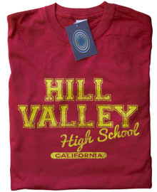 Hill Valley High School T Shirt (Red)