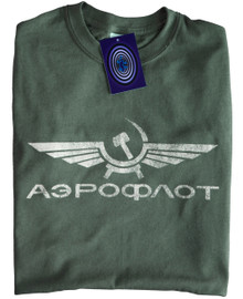 Aeroflot T Shirt (Green)