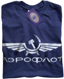 Aeroflot T Shirt (Blue)
