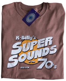K Billy's Super Sounds of The 70's T Shirt (Brown)