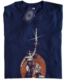 Conan the Barbarian T Shirt (Blue)