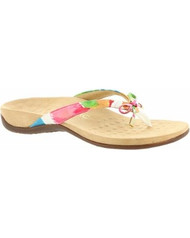 Vionic Bella II White Floral Sandals