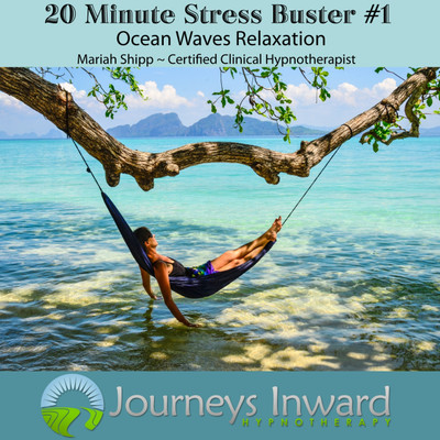 Stress relief hypnosis download MP3, Ocean waves, relaxation.