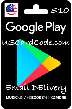 $10 Google Play Code on USCardCode.com 400x600