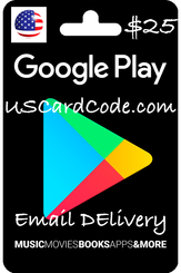$25 Google Play wallet on USCardCode.com 400x600
