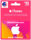 $10 iTunes Gift Card Email