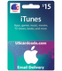 $15 iTunes Gift Card Certificate