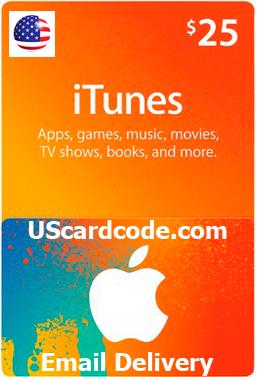 $25 iTunes Gift Card Code